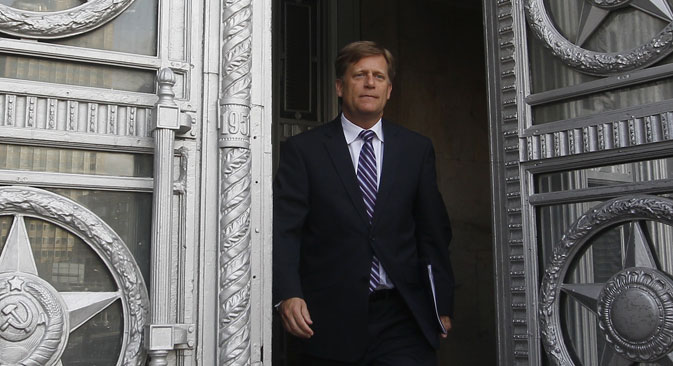 Michael McFaul spent five years in Russia. Source: Reuters