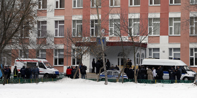 The fire was opened at a school in the northern Moscow region of Otradnoe. Source: ITAR-TASS
