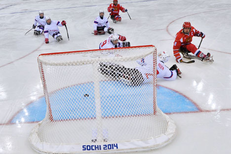 Team Russia beat Norway 4-0 to reach the final of the Paralympics. Source: RIA Novosti