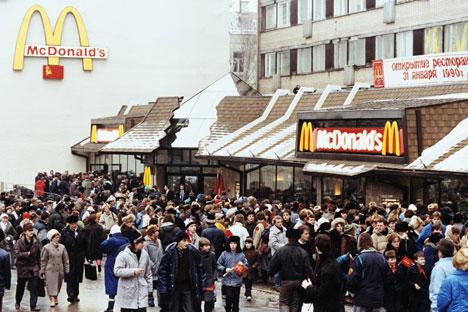 O McDonald's abriu seu primeiro restaurante russo em 1990 Foto: Reuters