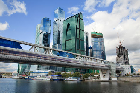 The Moscow City commercial district in central Moscow is home to the Federation Tower. Topping out at 1,112 feet, it is the highest tower in Europe. Source: Lori / Legion Media
