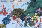 Allegoric maps of Europe from the First World War