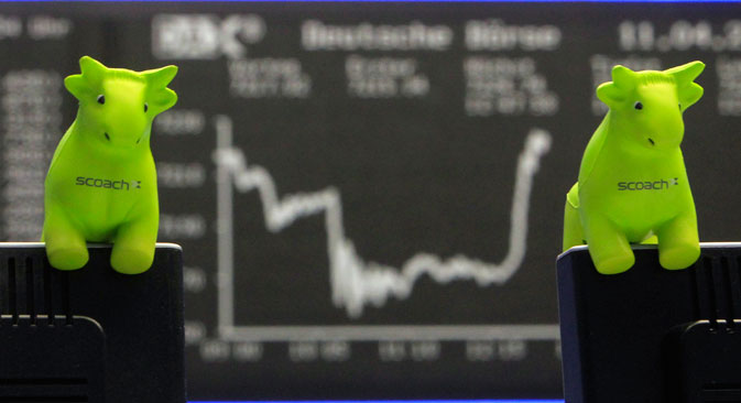 The Moscow stock exchange indices have recovered by a total of 6-7 percent. Source: AP