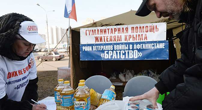 Russia is ready to supply water, food and electricity to Crimea. Source: Kallinikov / RIA Novosti