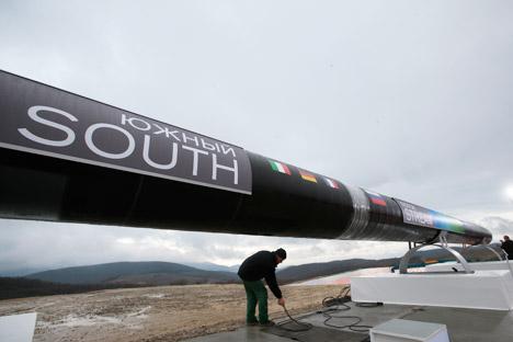 O South Stream, cuja capacidade será de 63 bilhões de metros cúbicos, atravessará o Mar Negro e chegará à Europa Foto: AP