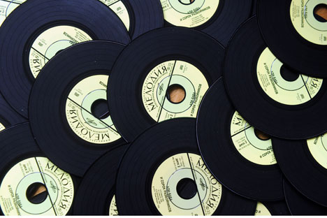 Such vinyl discs are well-known for everybody in Soviet Union. Source: ITAR-TASS