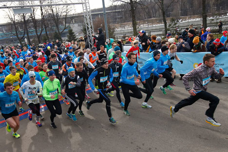 The first race was held on Apr 6 in Moscow. Source: Facebook / Moscow Marathon