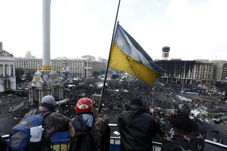 Equipe de televisão da Rússia foi recentemente deportada da Ucrânia Foto: Getty Images/Fotobank