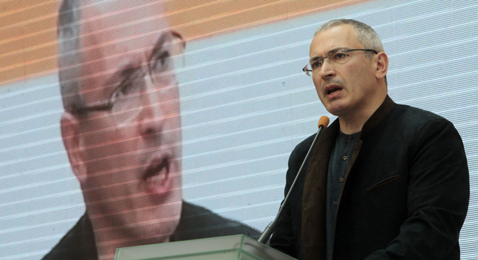 "Khodorkovsky invited Russian public figures to Kiev to discuss with Ukrainian colleagues a ""road map"" for resolving the current crisis. Source: AP"