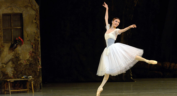 Bolshoi prima ballerina Svetlana Zakharova as Giselle. Source: PhotoXPress