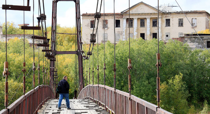 A bridge in the outskirts of Vorkuta. Source: Sergey Zajtsev / RIA Novosti