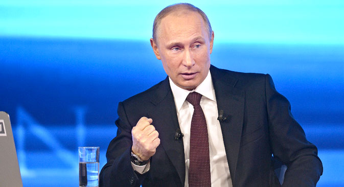 The event lasted nearly four hours, during which time Mr. Putin answered more than 70 questions. Source: Reuters