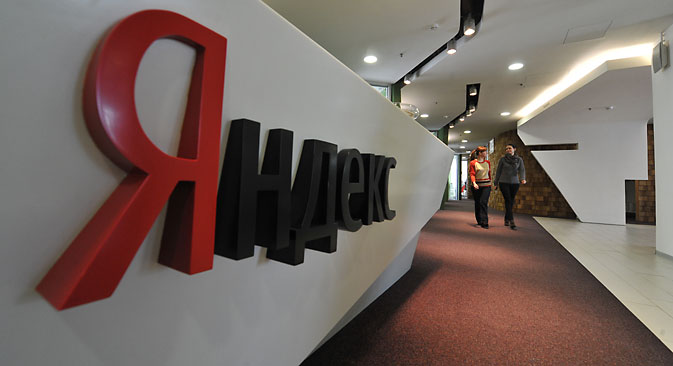 The president's words led to a 5 percent drop in Yandex's shares, which are traded on NASDAQ. Source: Sergey Kuznetsov / RIA Novosti