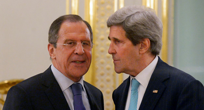Russian Minister of Foreign Affairs Sergei Lavrov (Left) and U.S. Secretary of State John Kerry (Right). Source: flickr.com / Eduard Peskov, Russia's Foreign Ministry