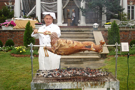 Chef at the Russian Embassy: 'I could give a whole lot for a good steak.' Source: Press Photo