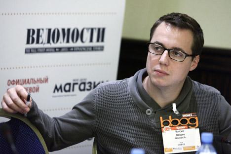 Wikimart co-founder Maxim Faldin. Source: Ruslan Krivobok / RIA Novosti