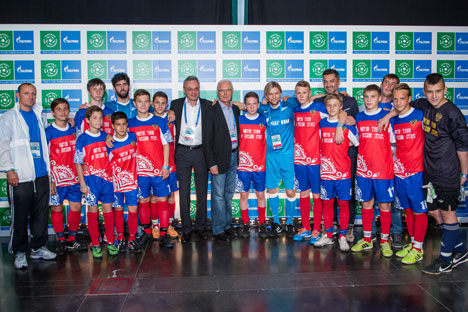 Football for Friends is social initiative implemented by Gazprom. Source: Press Photo