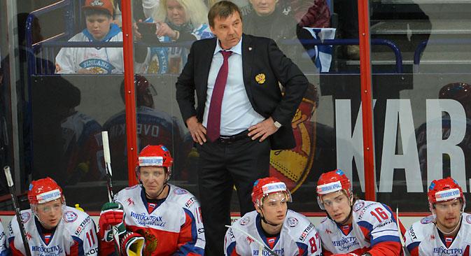 New Russian coach Oleg Znarok. Source: Alexei Danichev / RIA Novosti