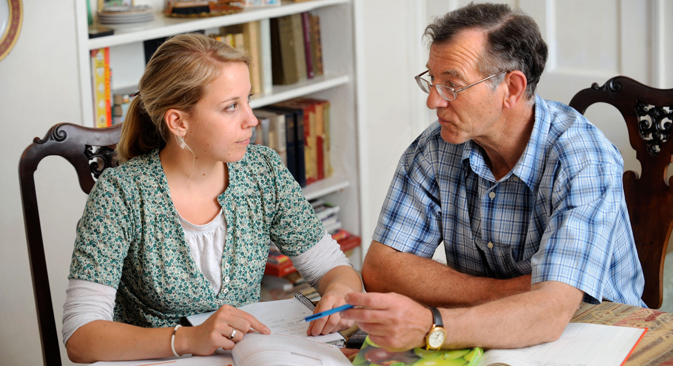 One-to-one English lessons with a native speaker cost from 1,000 rubles (about $30) an hour. Source: Alamy / Legion Media.