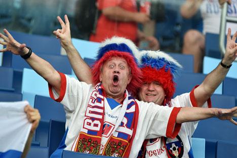 Primeiro jogo da Rússia na Copa 2014, contra a Coreia do Sul, terminou em empate Foto: RIA Nóvosti
