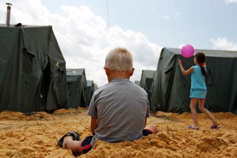 Atualmente, o número de refugiados registrados na região de Rostov chega a quase 16.000 pessoas Foto: Reuters