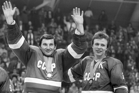 Tretiak and Fetisov won their Olympic gold medals 30 years ago. Source: ITAR-TASS
