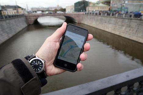 O Yandex tem muitos aplicativos móveis gratuitos para navegação: horários dos trens, mapa do metrô, serviço de táxi Foto: ITAR-TASS