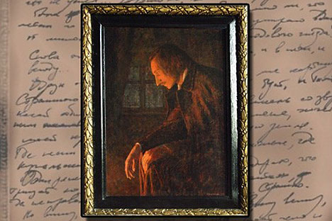 Nikolai Gogol burning the second volume of 'Dead Souls.' Source: Press image