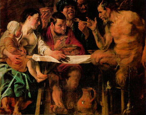 Satyr at the Peasant's House, Jordaens. Source: State Pushkin Museum of Fine Arts