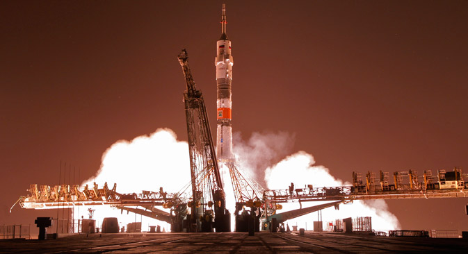 The Soyuz-FG launch from the Baikonur Space Center. Source: AP