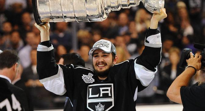 13 June 2014: Los Angeles Kings Defenseman Slava Voynov celebrates the win of the Stanley Cup. Source: Imago / Legion Media