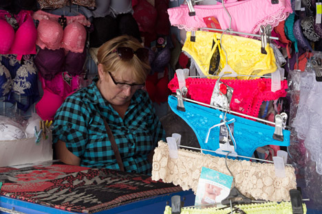 Underwear on sale at a central market in Simferopol. Source: Andrey Iglov / RIA Novosti