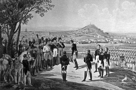 Obra retrata a rendição de Paris em março de 1814 Foto: RIA Nóvosti