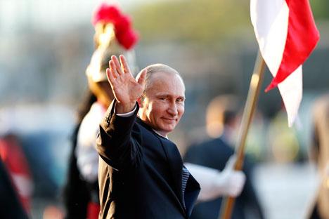 Popularitas Presiden Rusia Vladimir Putin di kalangan rakyatnya terus menguat.