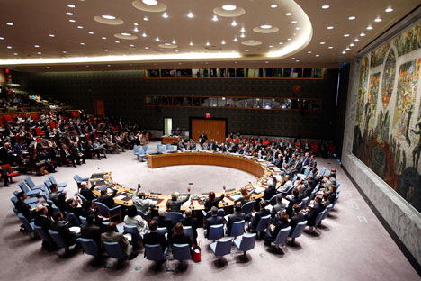 Six members of the Security Council, including the UK, the United States and France, rejected the Russian draft resolution.