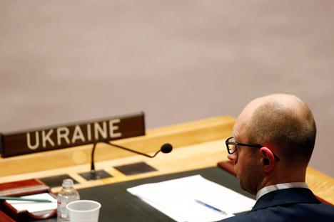 """De acordo com especialistas entrevistados pelo jornal, """"a manobra de Iatseniuk significa que ele realmente vai para a oposição ao chefe do Estado"""" Foto: Reuters"""