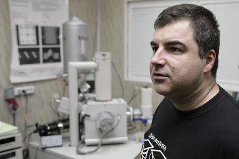 Novossiolov, em conjunto com outro cientista russo, Andre Geim, recebeu o Prêmio Nobel na área da física, em 2010 Foto: ITAR-TASS