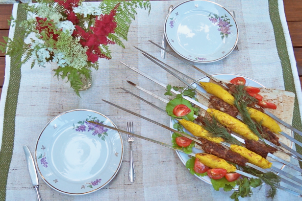 Delicious Russia: Lula kebab for dinner at the dacha