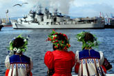 The Ranvijai destroyer in Vladivostok