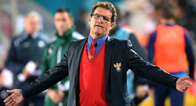 Sports Minister Vitaly Mutko has been Capello's most prominent defender since the World Cup exit. Source: RIA Novosti