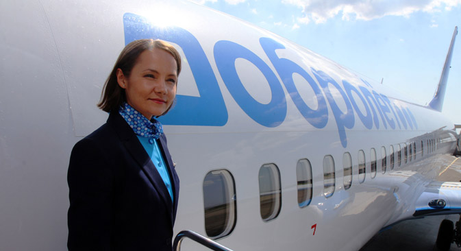 The Dobrolet Airline in the airport of Simferopol. Source: RIA Novosti