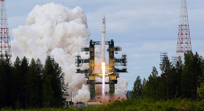 Carrier rocket Angara 1.2PP during launch from Plesetsk launch site. Source: RIA Novosti