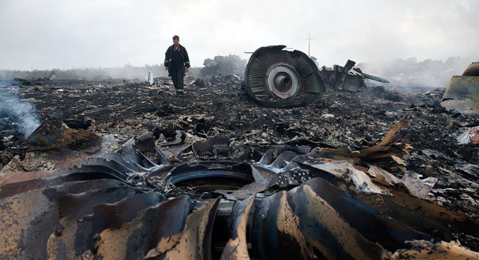 According to one of the main versions, the Boeing 777 crash was caused by a missile launch. Source: Reuters