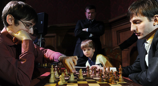 The Russian authorities are trying to improve the prospects of the sport by investing in chess training for children. Source: ITAR-TASS