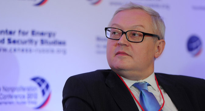 Sergei Ryabkov: 'We will not be dragged into an arms race'. Source: ITAR-TASS
