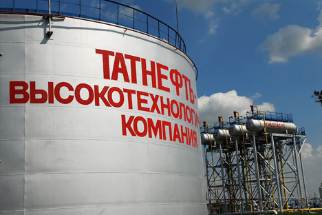 Russia's Tatneft and National Iranian Oil Company signed an agreement on Oct. 8.