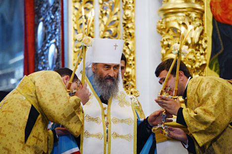 "Metropolitan Onuphrius had stated that Ukraine should not enter the European Union ""because people there have abandoned Christ."" Source: Eugeniy Kotenko / RIA Novosti"
