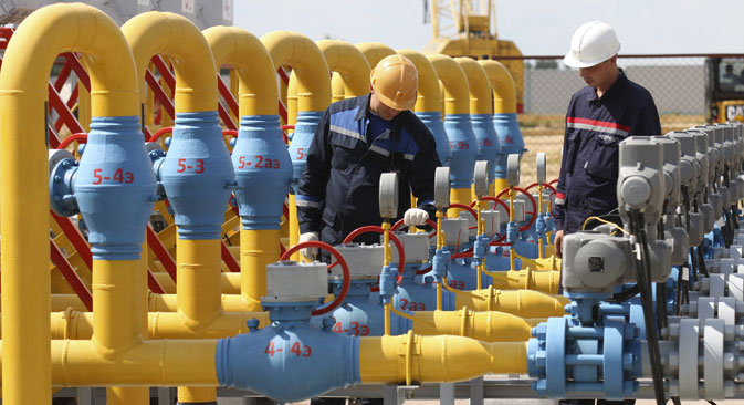 Ukraine is now trying to establish reverse gas supplies from Europe. Source: RIA Novosti