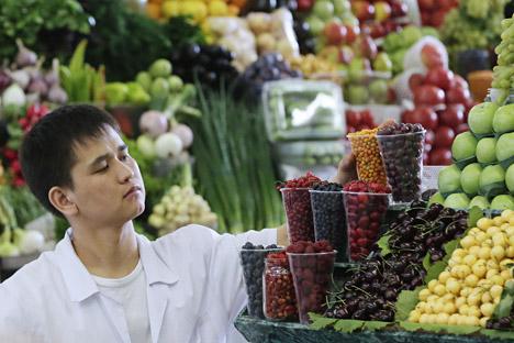 Importação de carne e frutas dos EUA e UE estão suspensas até agosto de 2015 Foto: ITAR-TASS