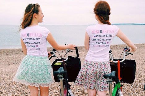 Girls in Portsmouth. Source: Yulia and Tasha / 2gilrs2bikes